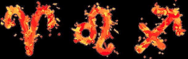 Fire zodiac signs